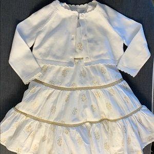 Baby girl set: dress 12 m and Baby Gap cardi 6-12m